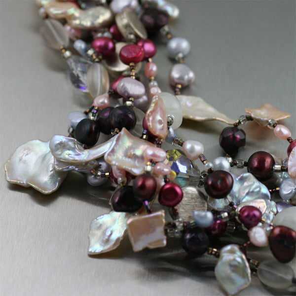 Keishi Cornflake Pearl Necklace - Detail