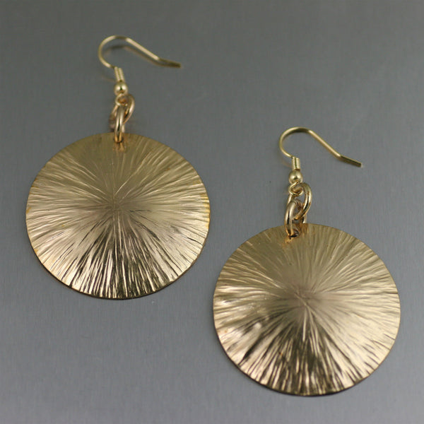 Nu Gold Brass Sand Dollar Earrings
