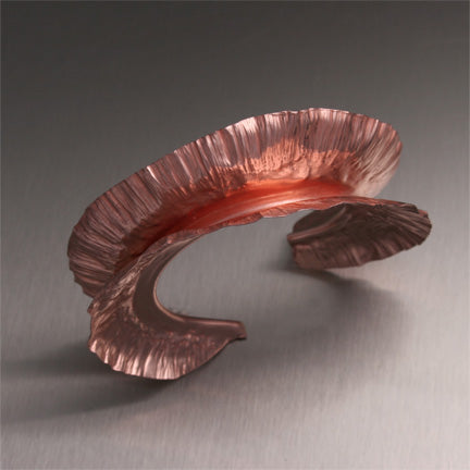 Fold Formed Fan Coral Copper Bracelet from the SoMa Collection