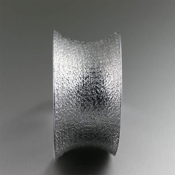 Texturized Aluminum Cuff Bracelet from John S Brana Handmade Jewelry - Side View