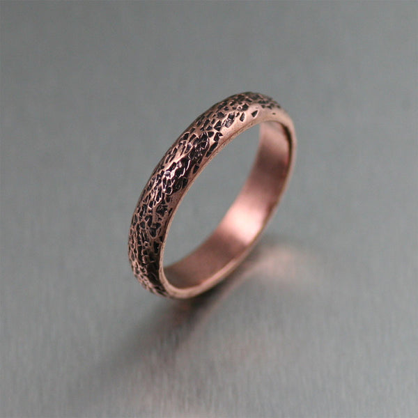 4mm texturized copper band ring - Handmade Wedding Rings