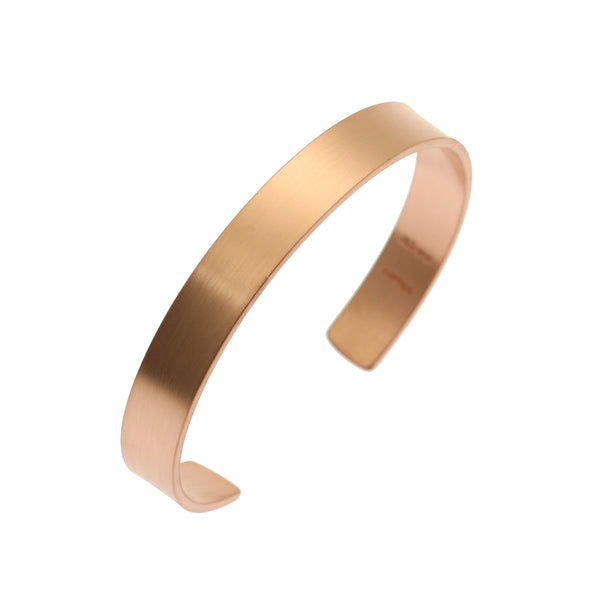 10mm Wide Brushed Copper Cuff Bracelet