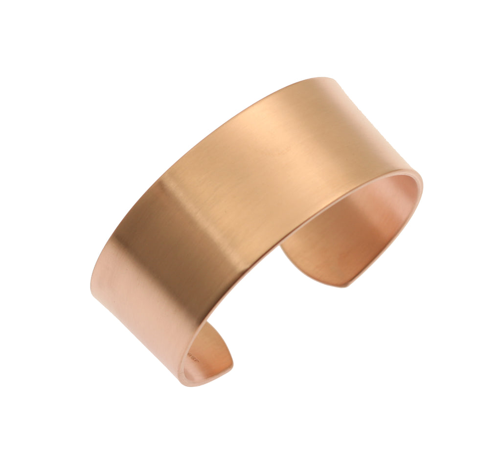 1 Inch Wide Brushed Copper Cuff Bracelet