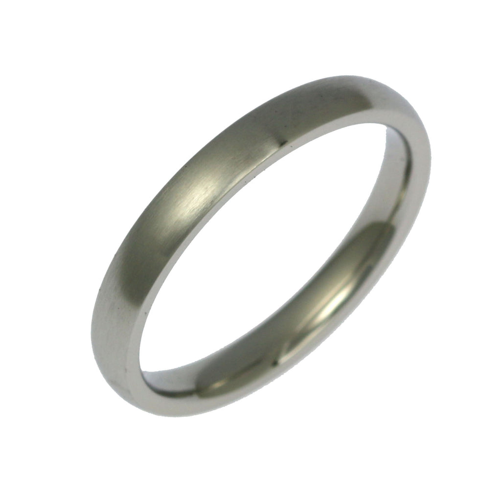 3mm Brushed Comfort Fit Stainless Steel Men's Ring