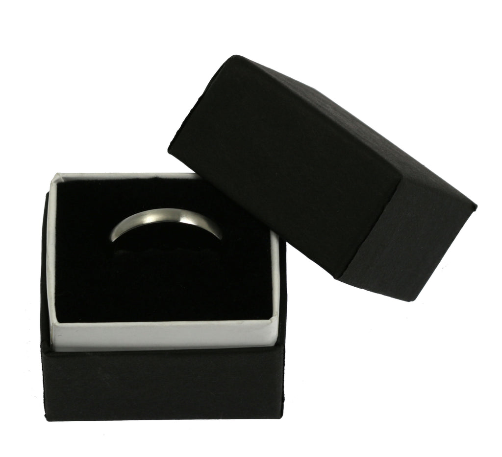 3mm Brushed Comfort Fit Stainless Steel Men's Ring - Gift Box