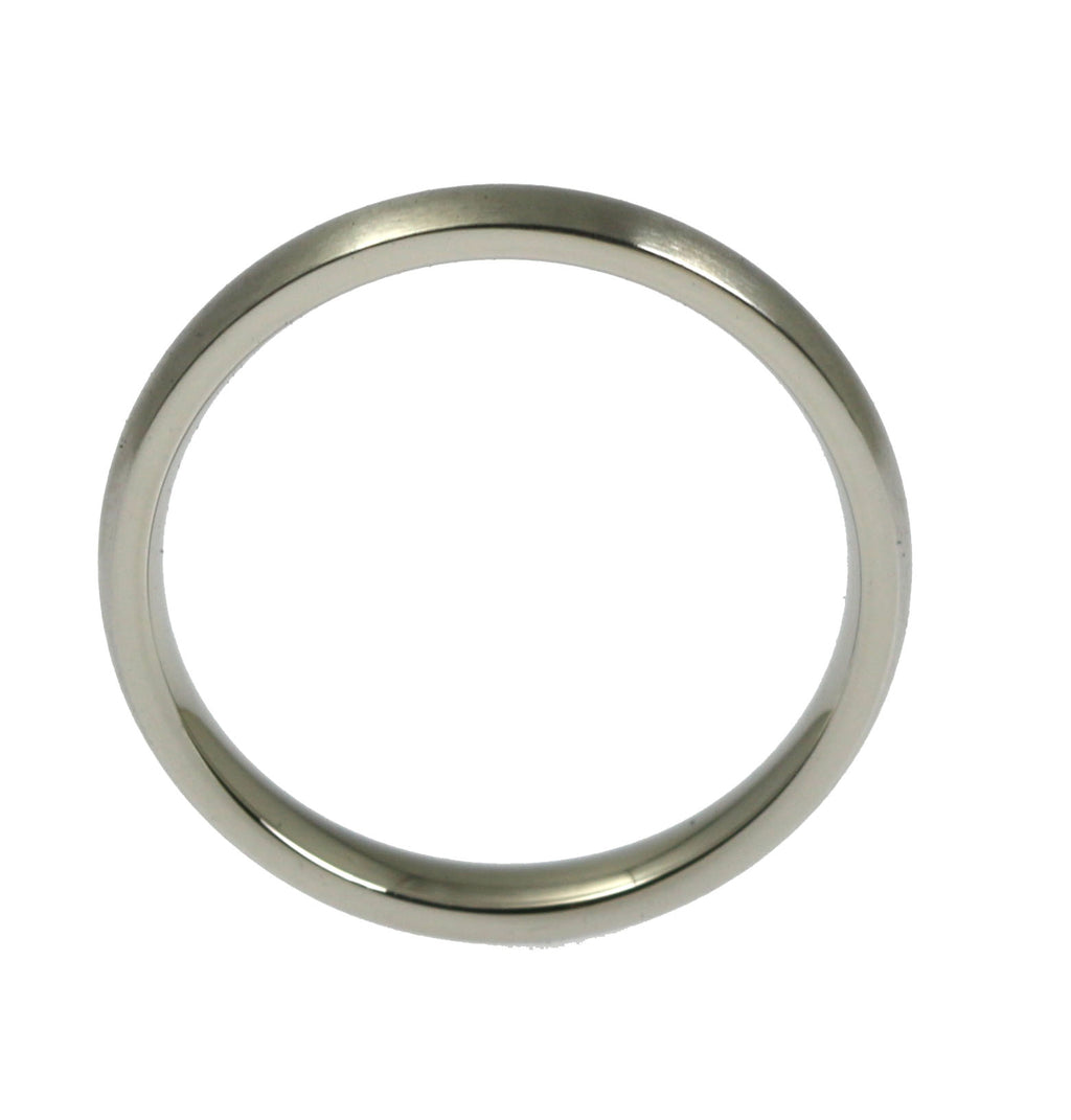 3mm Brushed Comfort Fit Stainless Steel Men's Ring - Shank Thickness