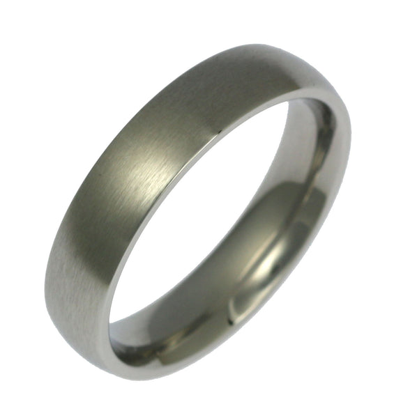 5mm Brushed Comfort Fit Stainless Steel Men's Ring