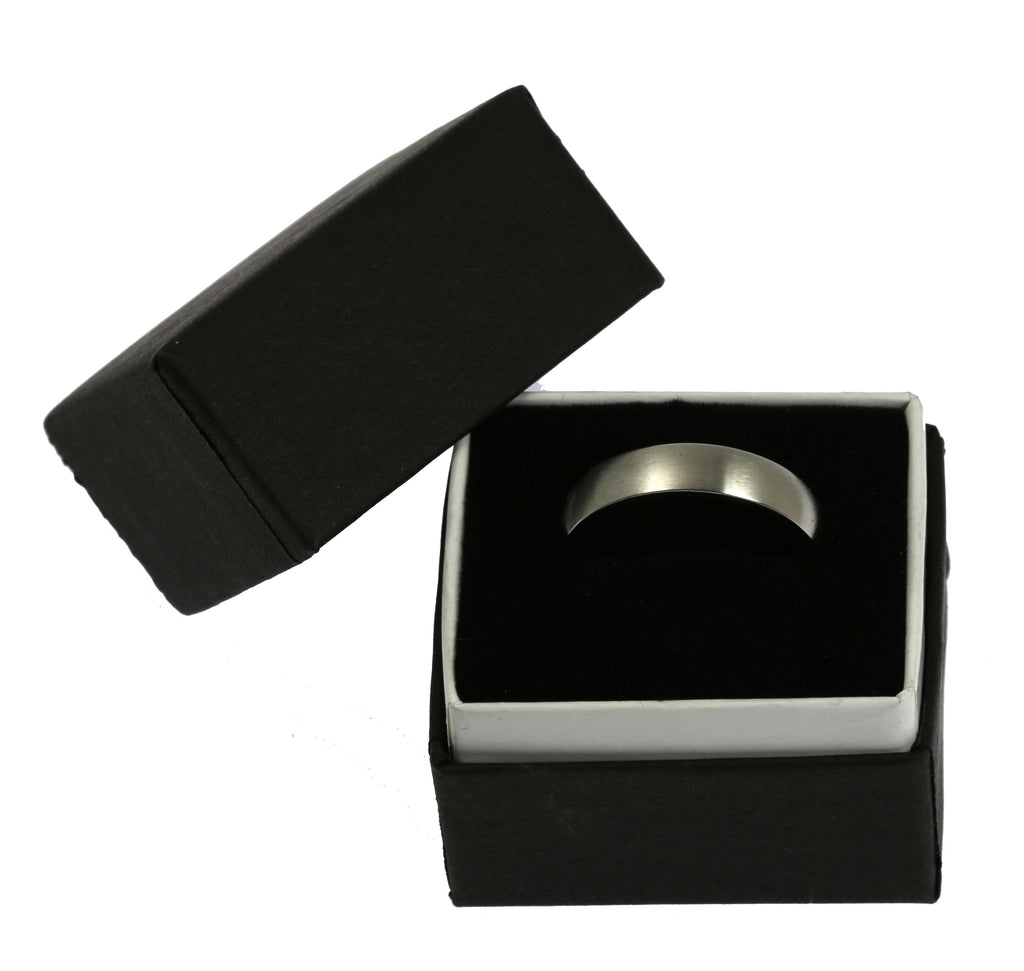 5mm Brushed Comfort Fit Stainless Steel Men's Ring - Gift Box