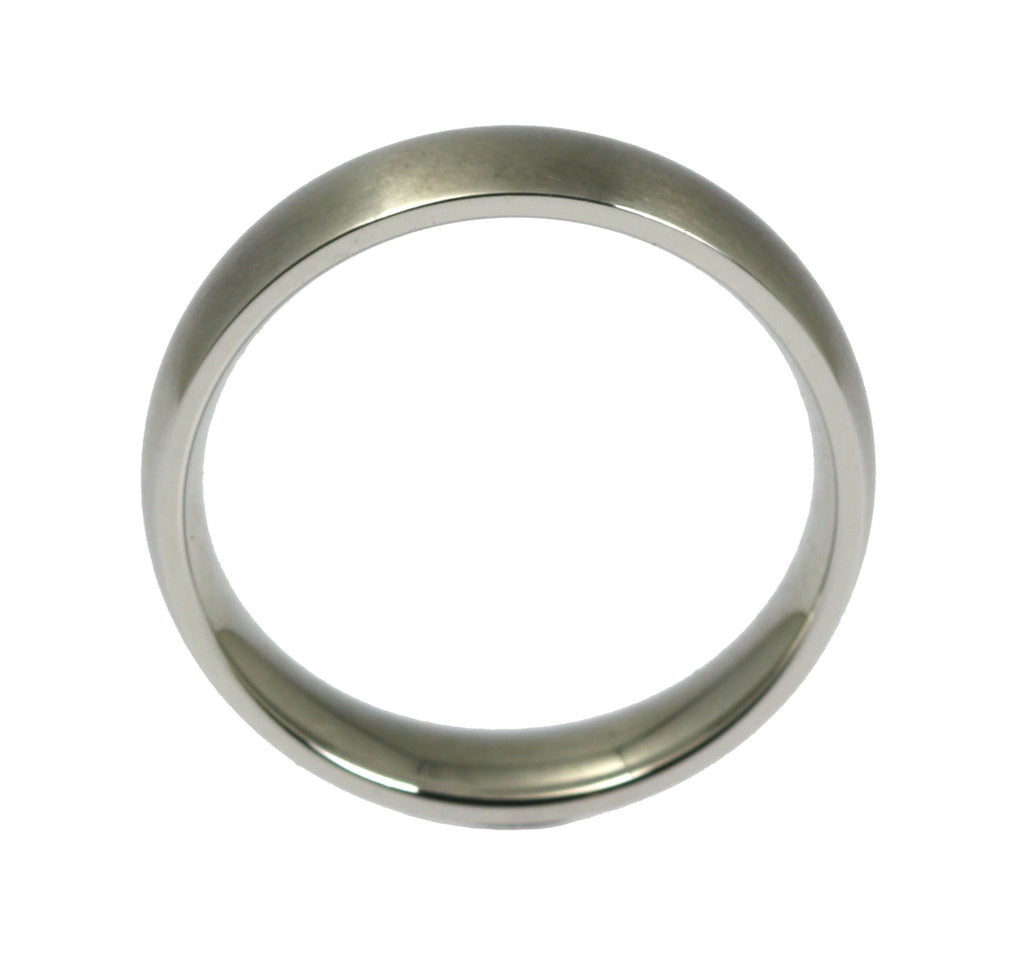 5mm Brushed Comfort Fit Stainless Steel Men's Ring - Shank Thickness