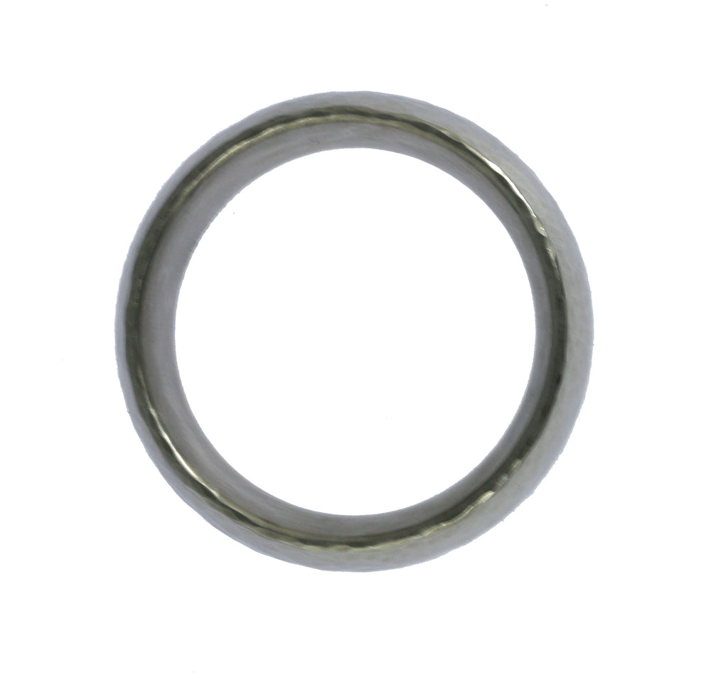 8mm Hammered Domed Stainless Steel Men's Ring