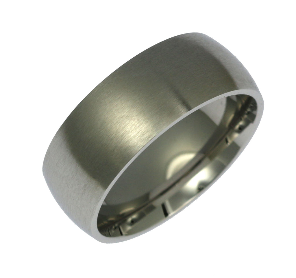 8mm Brushed Comfort Fit Stainless Steel Men's Ring