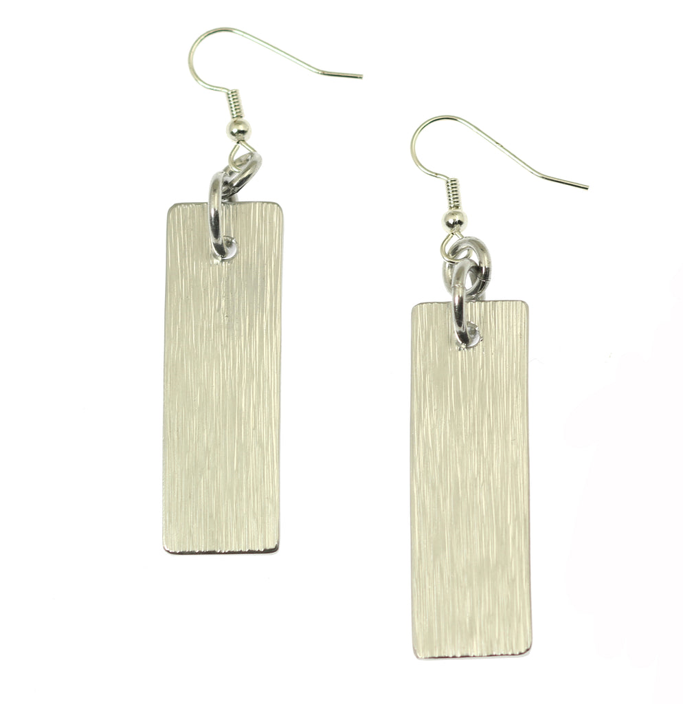 Aluminum Bark Dangle Earrings