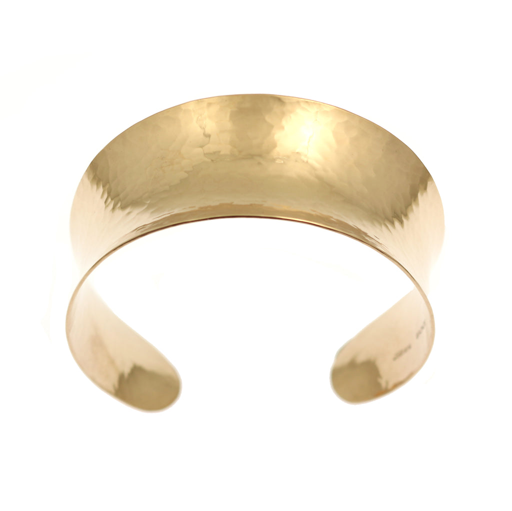Hammered Bronze Anticlastic Cuff
