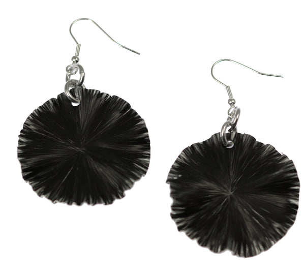 Black Anodized Aluminum Lily Pad Earrings – Medium