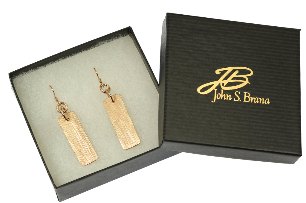 Bronze Bark Dangle Earrings