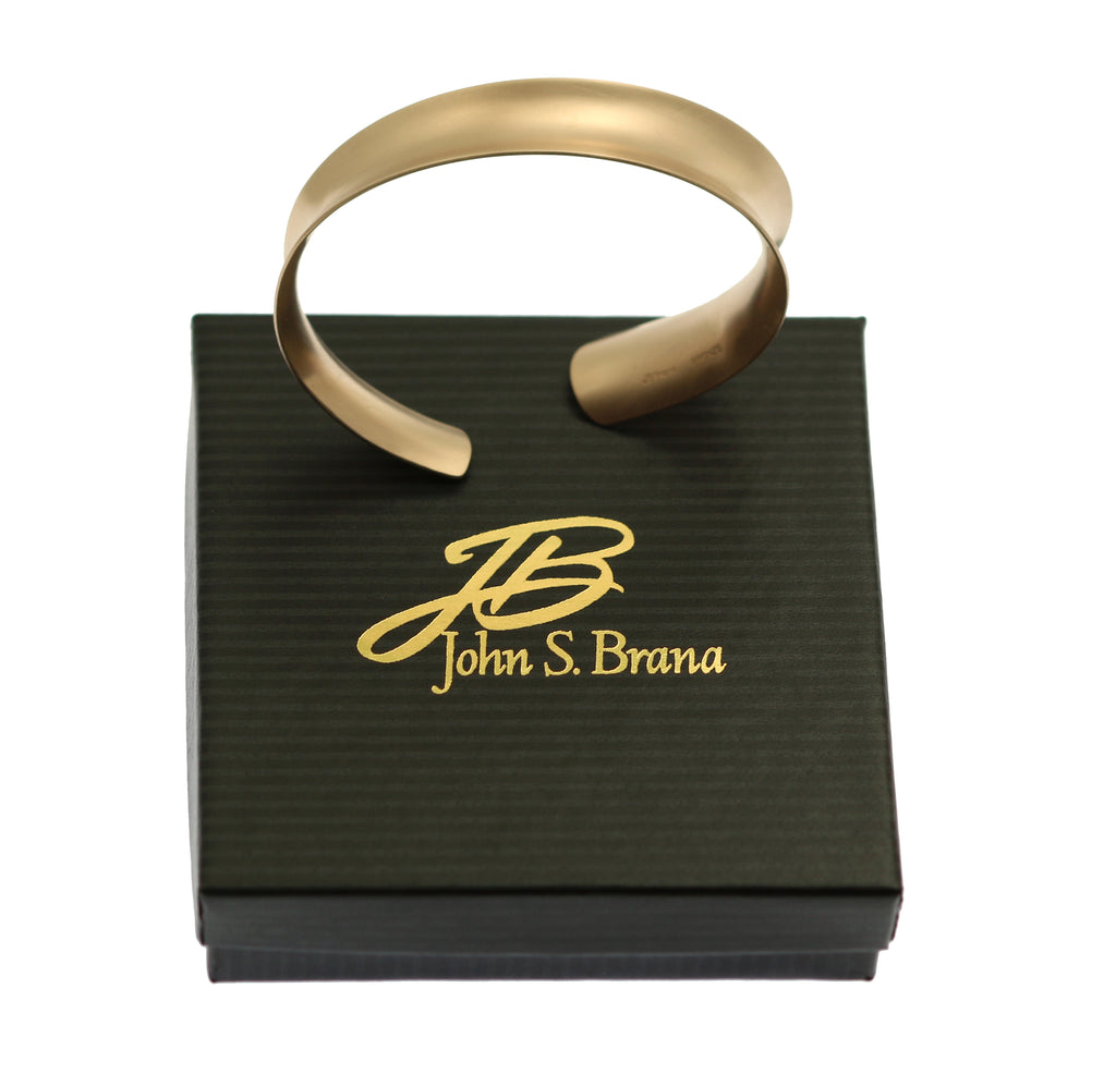 Brushed Bronze Anticlastic Bangle Bracelet