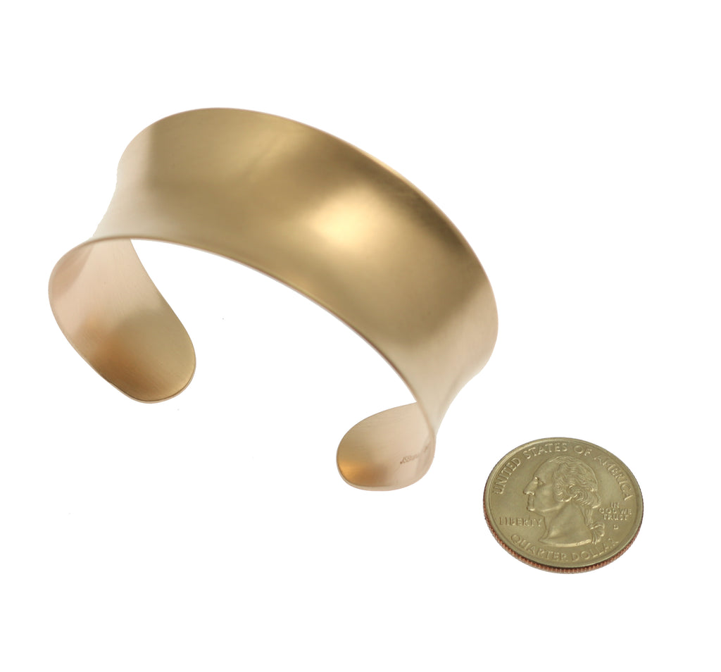 Brushed Bronze Anticlastic Cuff