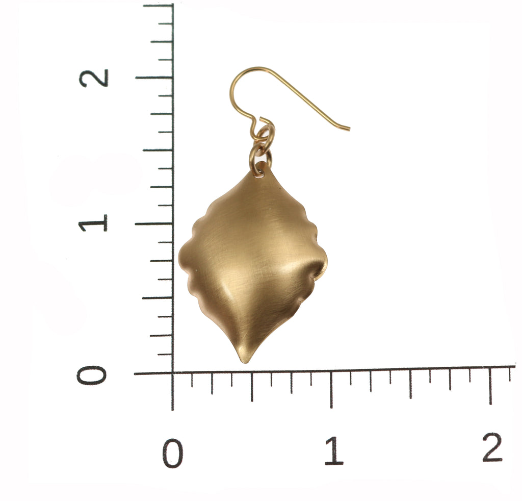 Brushed Bronze Moroccan Drop Earrings