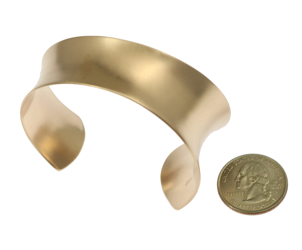 Tapered Brushed Bronze Anticlastic Cuff