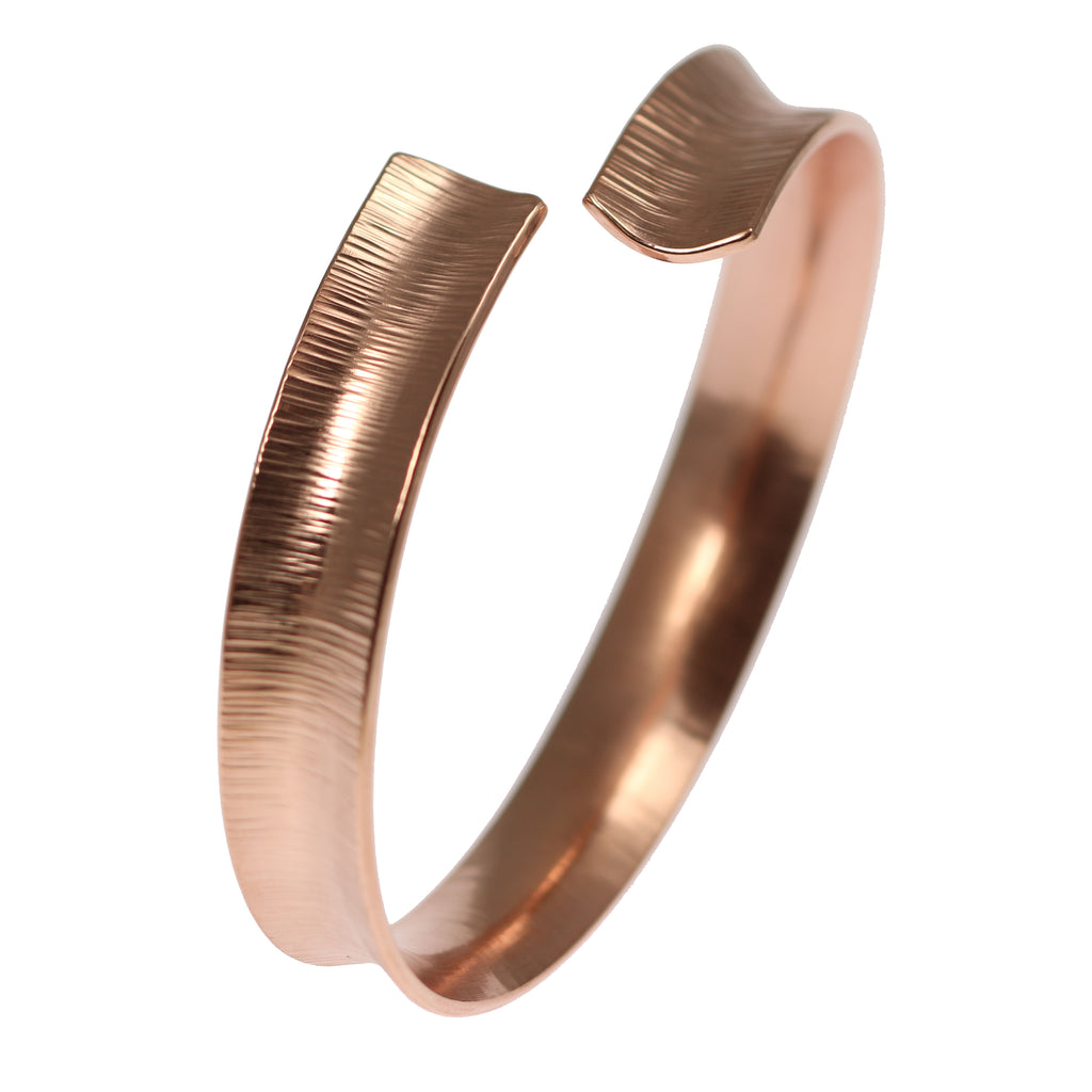 Chased Copper Bangle Bracelet