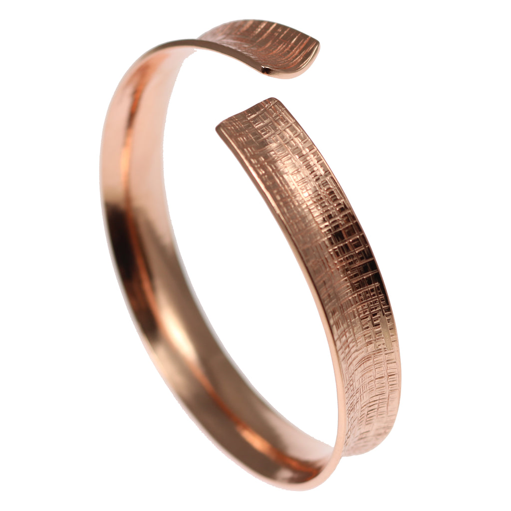 Linen Anticlastic Copper Bangle Bracelet