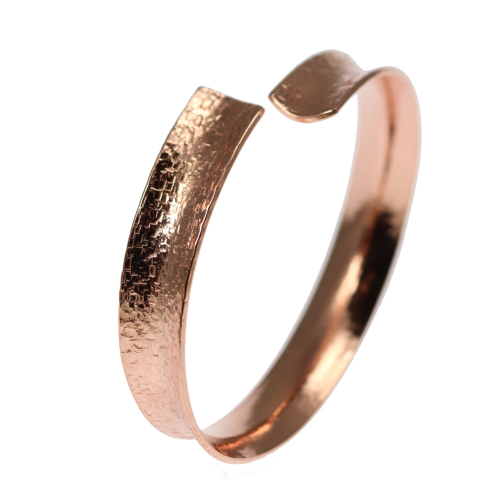 Anticlastic Texturized Copper Bangle Bracelet
