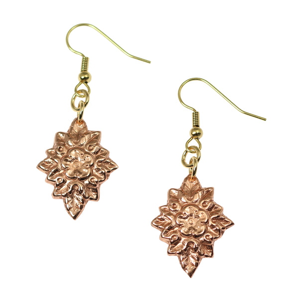 French Bouquet Copper Drop Earrings