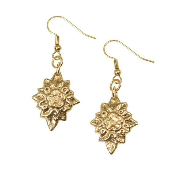 French Bouquet Nu Gold Drop Earrings