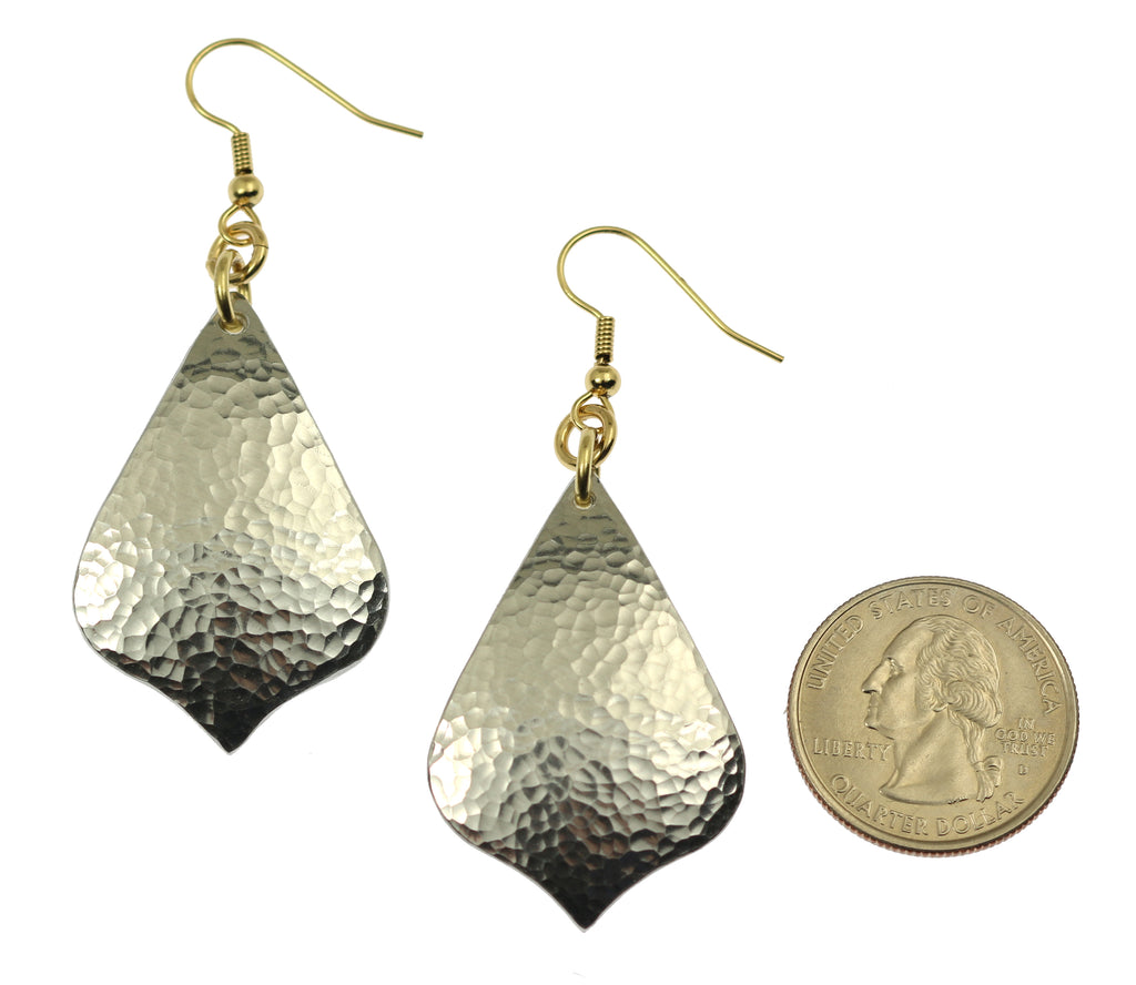 Hammered Aluminum Arabesque Drop Earrings