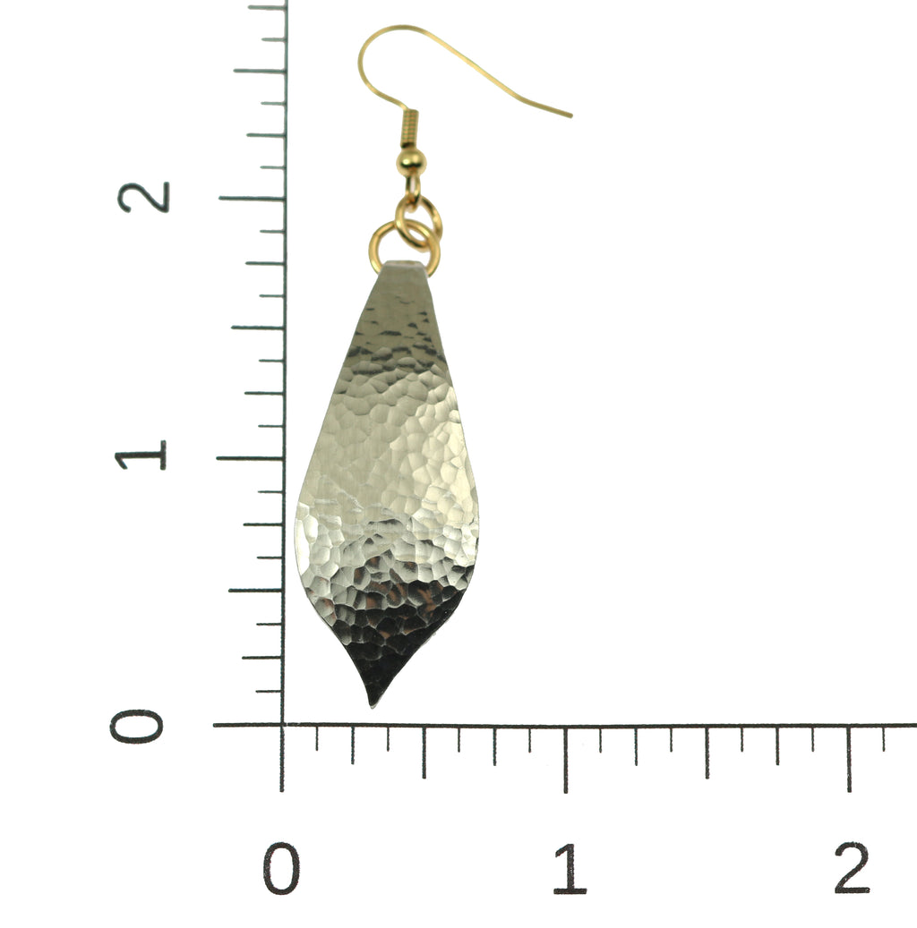 Hammered Aluminum Marrakesh Tear Drop Earrings