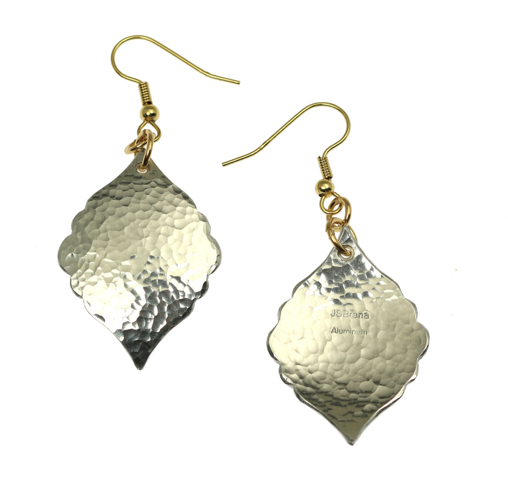 Hammered Aluminum Moroccan Drop Earrings