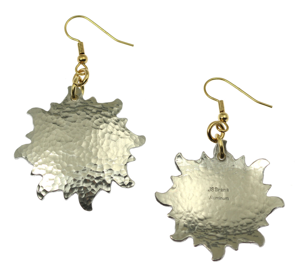 Hammered Aluminum Sunburst Earrings