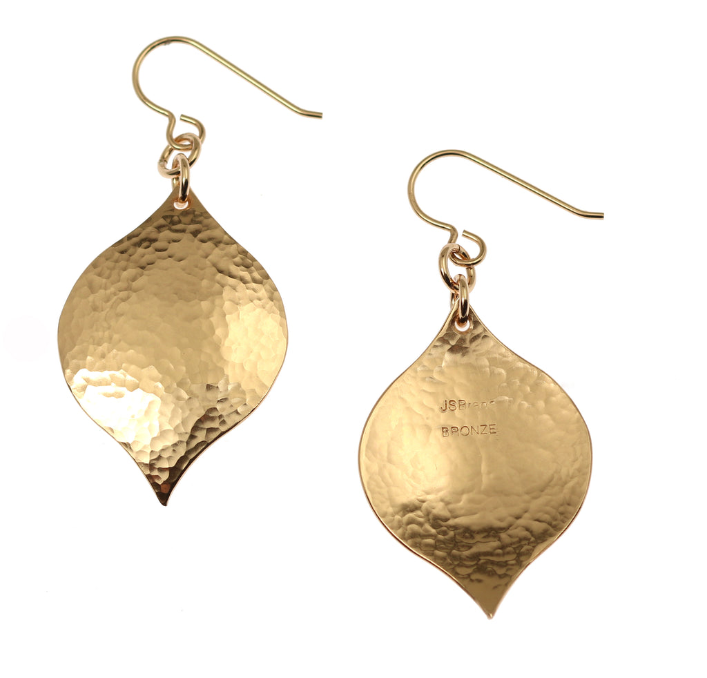 Hammered Bronze Marrakesh  Drop Earrings