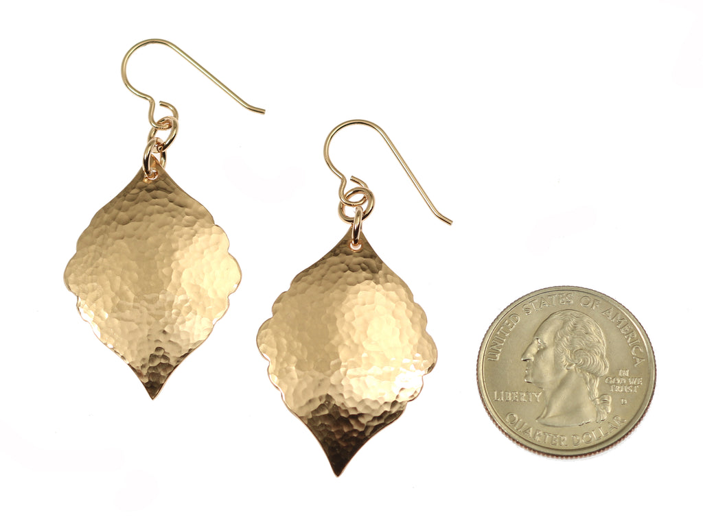 Hammered Bronze Moroccan Drop Earrings