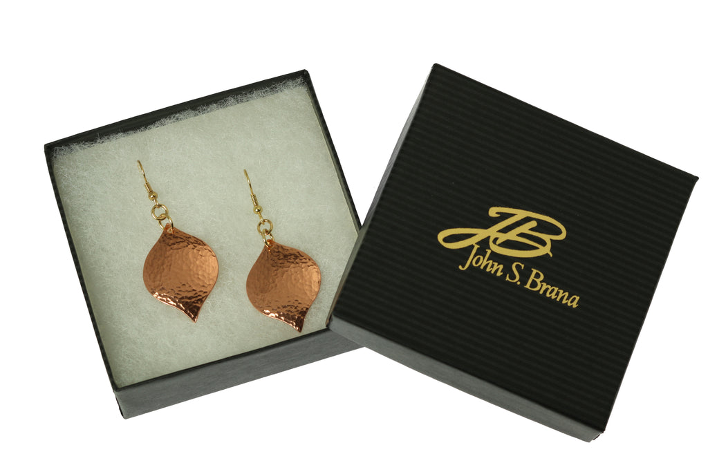 Hammered Copper Marrakesh Drop Earrings