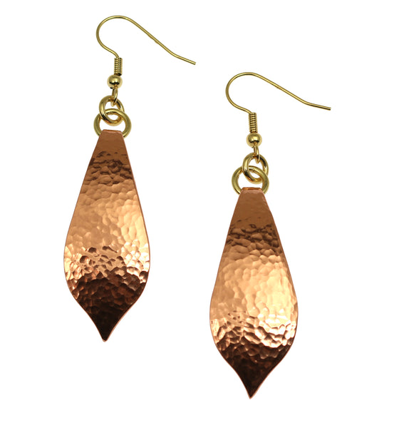 Hammered Copper Marrakesh Tear Drop Earrings