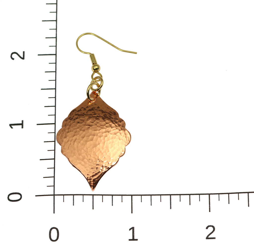 Hammered Copper Moroccan Drop Earrings