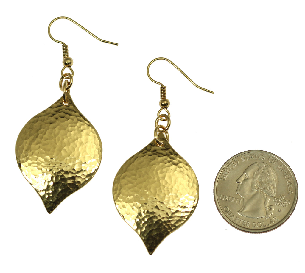 Hammered Nu Gold Marrakesh Drop Earrings