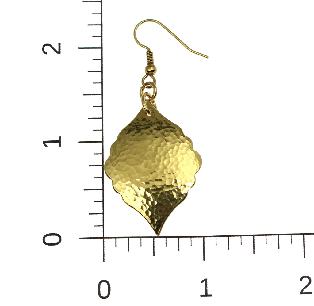 Hammered Nu Gold Moroccan Drop Earrings