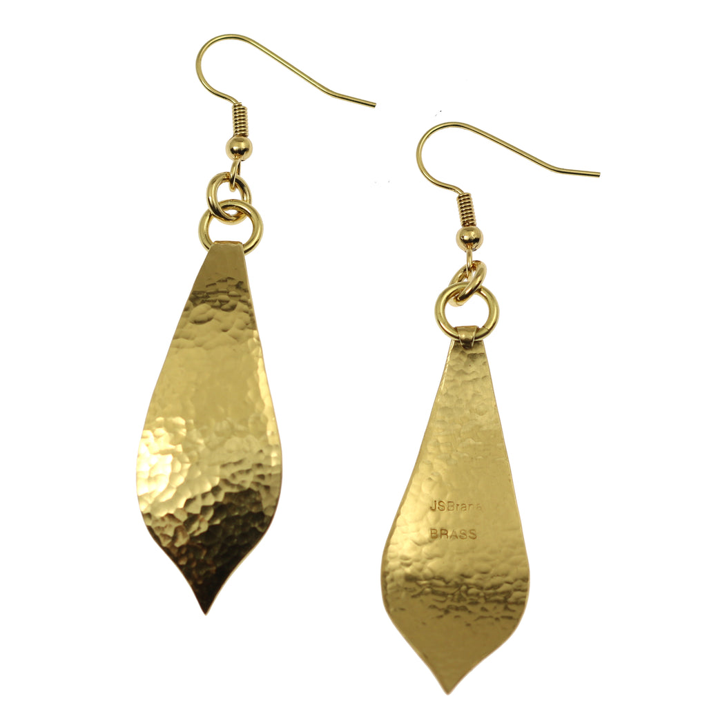 Hammered Nu Gold Marrakesh Teardrop Earrings