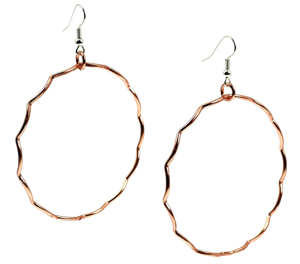 Corrugated Copper Hoop Earrings