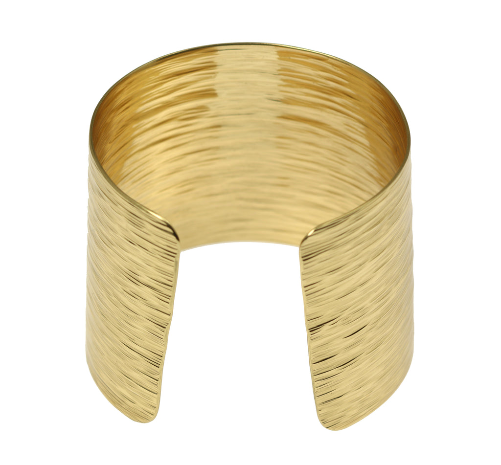 Nu Gold Brass Bark Cuff