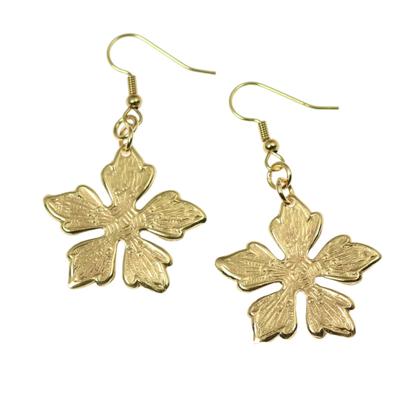 Nu Gold Buttercup Flower Earrings