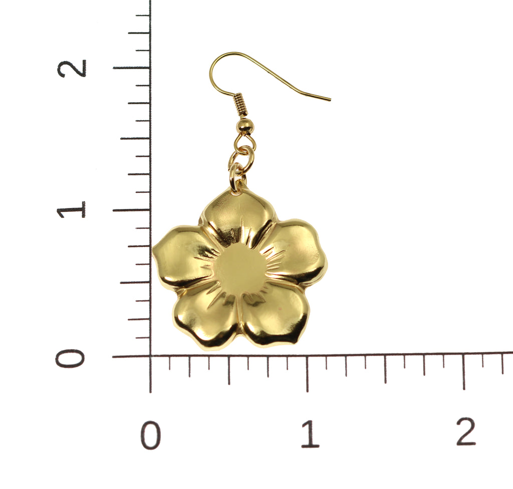Nu Gold Forget Me Not Flower Earrings
