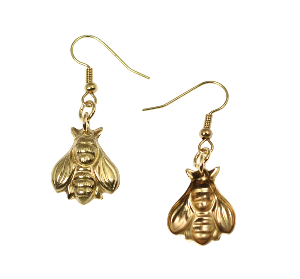 Nu Gold Honey Bee Earrings