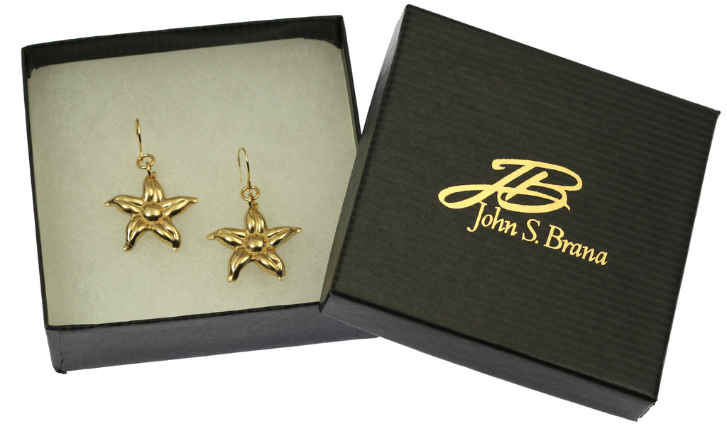 Nu Gold Star Jasmine Flower Earrings