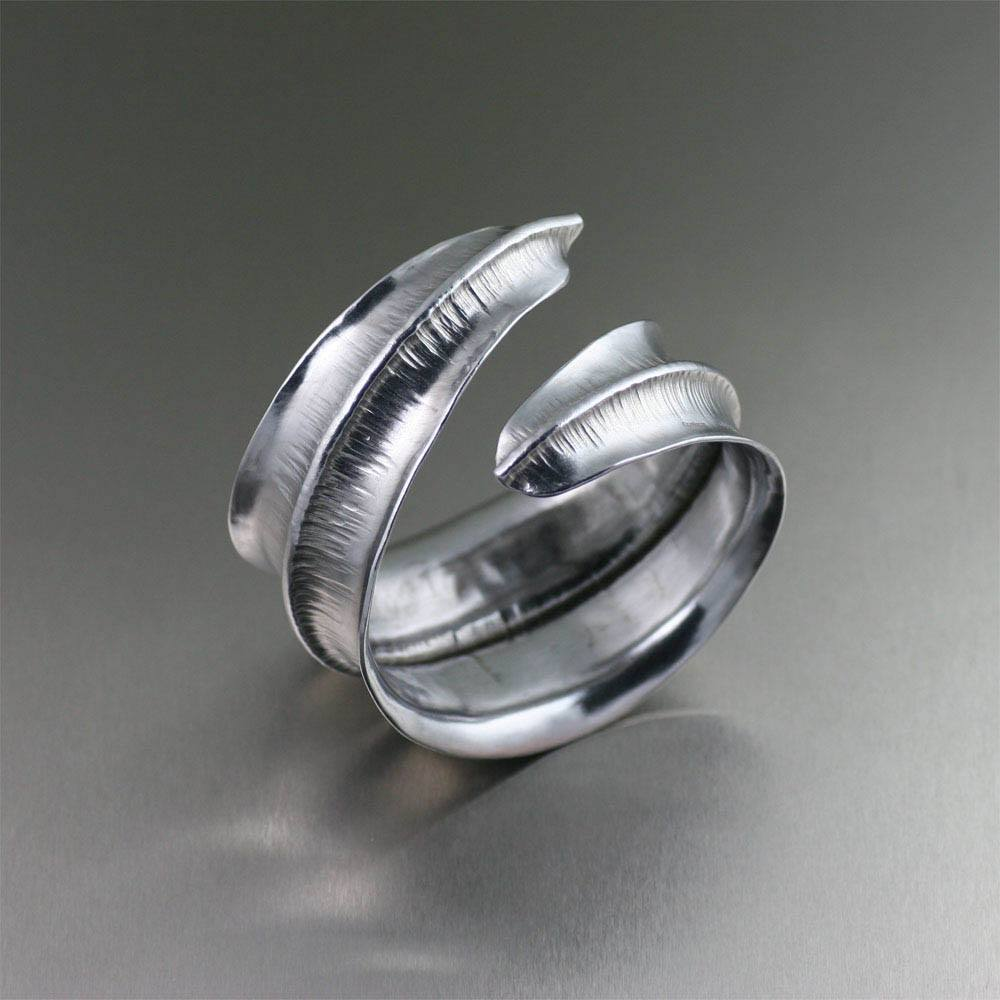 Aluminum Fold Formed Anticlastic Bangle - johnsbrana - 1