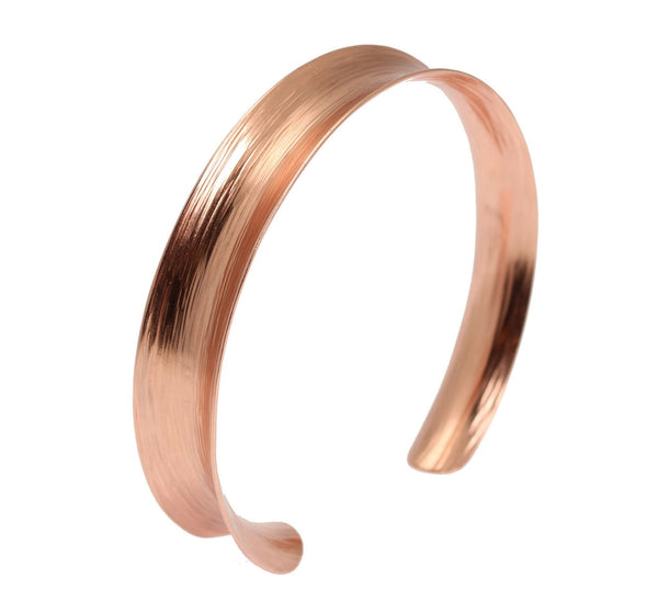 Anticlastic Bark Copper Bangle Bracelet - johnsbrana - 1