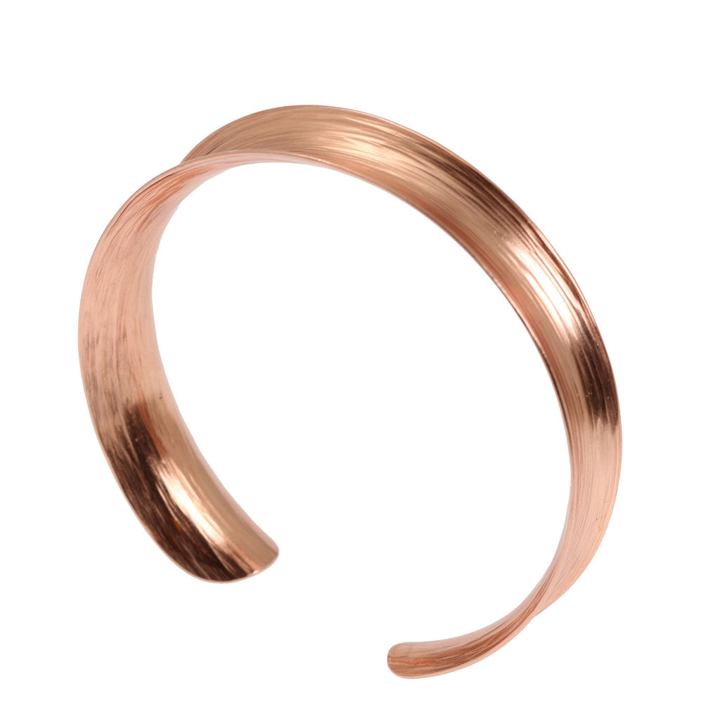 Anticlastic Bark Copper Bangle Bracelet - johnsbrana - 2