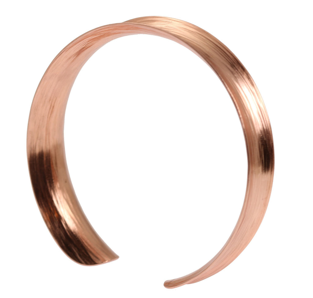 Anticlastic Bark Copper Bangle Bracelet - johnsbrana - 3